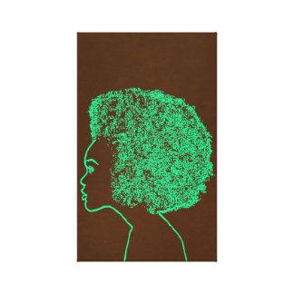 Profile Afro Canvas Print