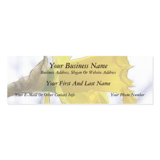 Profile - Bright Yellow Daffodil Double-Sided Mini Business Cards (Pack Of 20)
