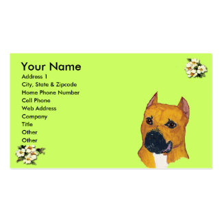 Profile - Business Card - Am Staffordshire Terrier