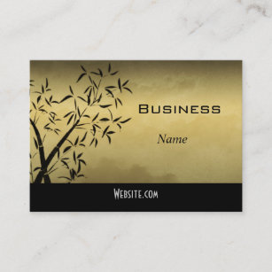 Asian design business cards templates zazzle profile business card asian gold colourmoves