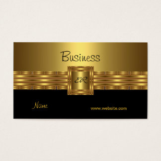 Profile Business Card Gold on Gold Black