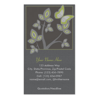 Profile Business Card: Tree with Butterfly Double-Sided Standard Business Cards (Pack Of 100)
