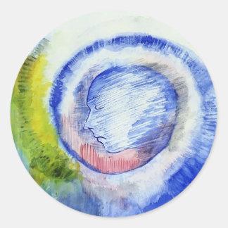 Profile by Odilon Redon Sticker