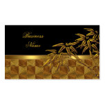 Profile Card Asian Black Gold Bamboo Double-Sided Standard Business Cards (Pack Of 100)