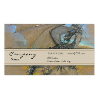 Profile Card - Black Dragon Business Card Template
