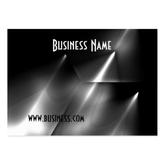 Profile Card Black & White Style Bent Metal (1) Business Cards