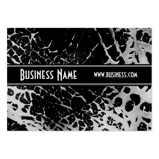 Profile Card Black & White Style Broken (1s) Business Card Templates