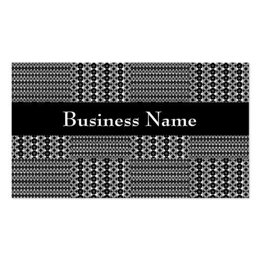 Profile Card Black & White Style Quilt Pattern Double-Sided Standard Business Cards (Pack Of 100)