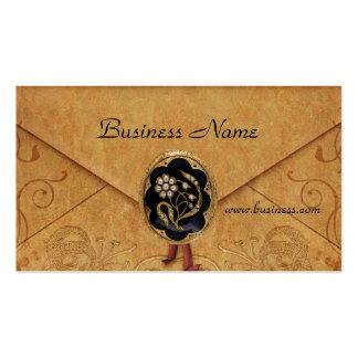 Profile Card Business Antique Envelope Jewel Business Card