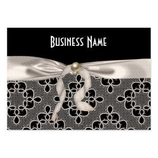 Profile Card Business Art Nouveau Lace Bow