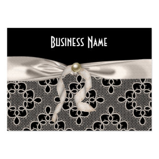 Profile Card Business Art Nouveau Lace Bow Large Business Card
