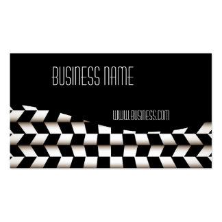 Profile Card Business Black White Checks