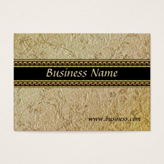 Profile Card Business Embossed Old Paper (002G006)
