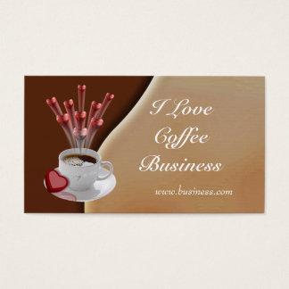 Profile Card Business love Coffee Chocolate Cream