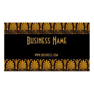 Profile Card Business Old Gold Business Card