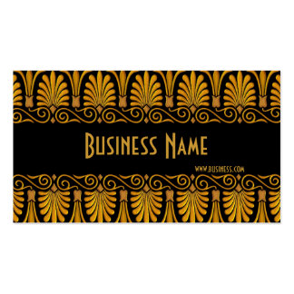 Profile Card Business Old Gold Business Card Templates