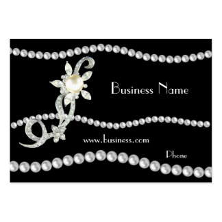 Profile Card Business Ornate Pearls Jewels (01420) Business Card Templates