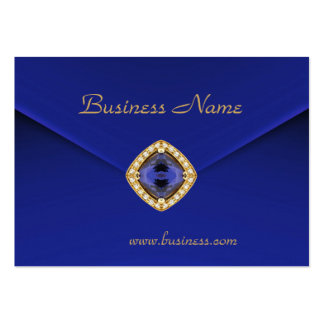 Profile Card Business Rich Blue Velvet Look Business Card Template