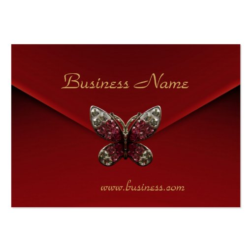 Profile card business rich red velvet butterfly business for Butterfly business cards