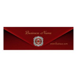 Profile Card Business Rich Red Velvet Diamond