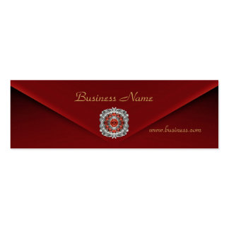 Profile Card Business Rich Red Velvet Diamond Mini Business Card