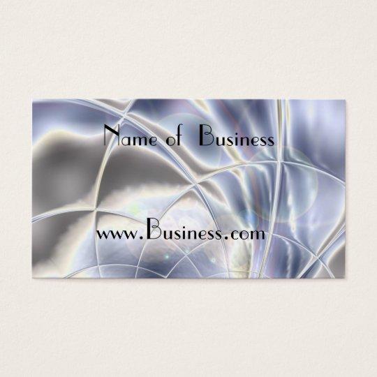 Profile Card Business Silver Foil Pearl