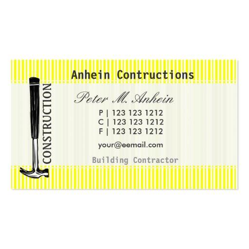 Profile Card Carpenter Built