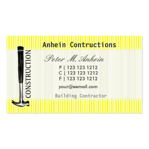 Profile Card Carpenter Built Double-Sided Standard Business Cards (Pack Of 100)
