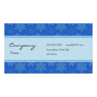 Profile Card - Decorative Snowflakes Double-Sided Standard Business Cards (Pack Of 100)