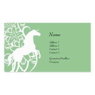 Profile Card - Decorative Unicorn Business Card Templates