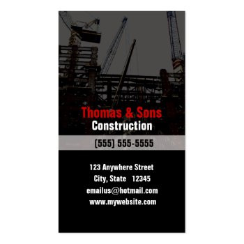 Profile Card for the Construction Industry Business Card