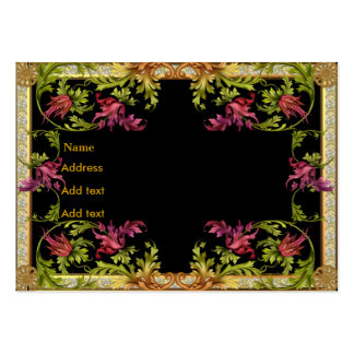 Profile Card Gold Floral Frame Large Business Cards (Pack Of 100)