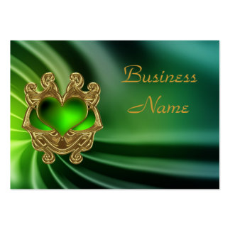 Profile Card Green Jewel Heart Silk