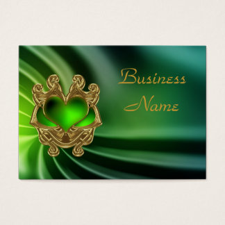 Profile Card Green Jewel Heart Silk