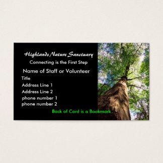 profile card, Highlands Nature Sanctuary Business Card