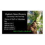 profile card, Highlands Nature Sanctuary Double-Sided Standard Business Cards (Pack Of 100)