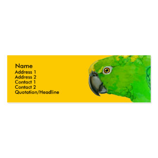 Profile Card Template - Amazon Parrot