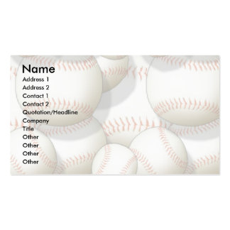 Profile Card Template - Baseballs Business Card Templates