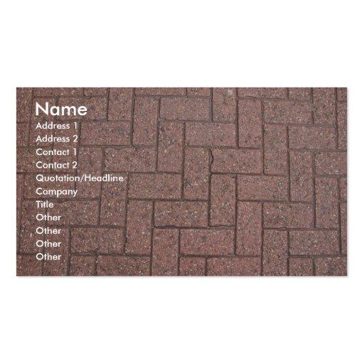Profile Card Template - Brick Pavers Texture Business Card Template