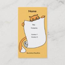 Profile Card Template - Cat