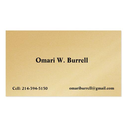 Profile Card Template: Custom Business Card Template