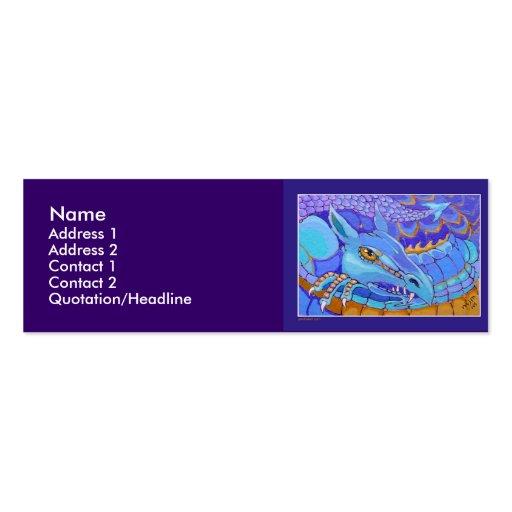 Profile card template dragon double sided mini business for Mini business cards template