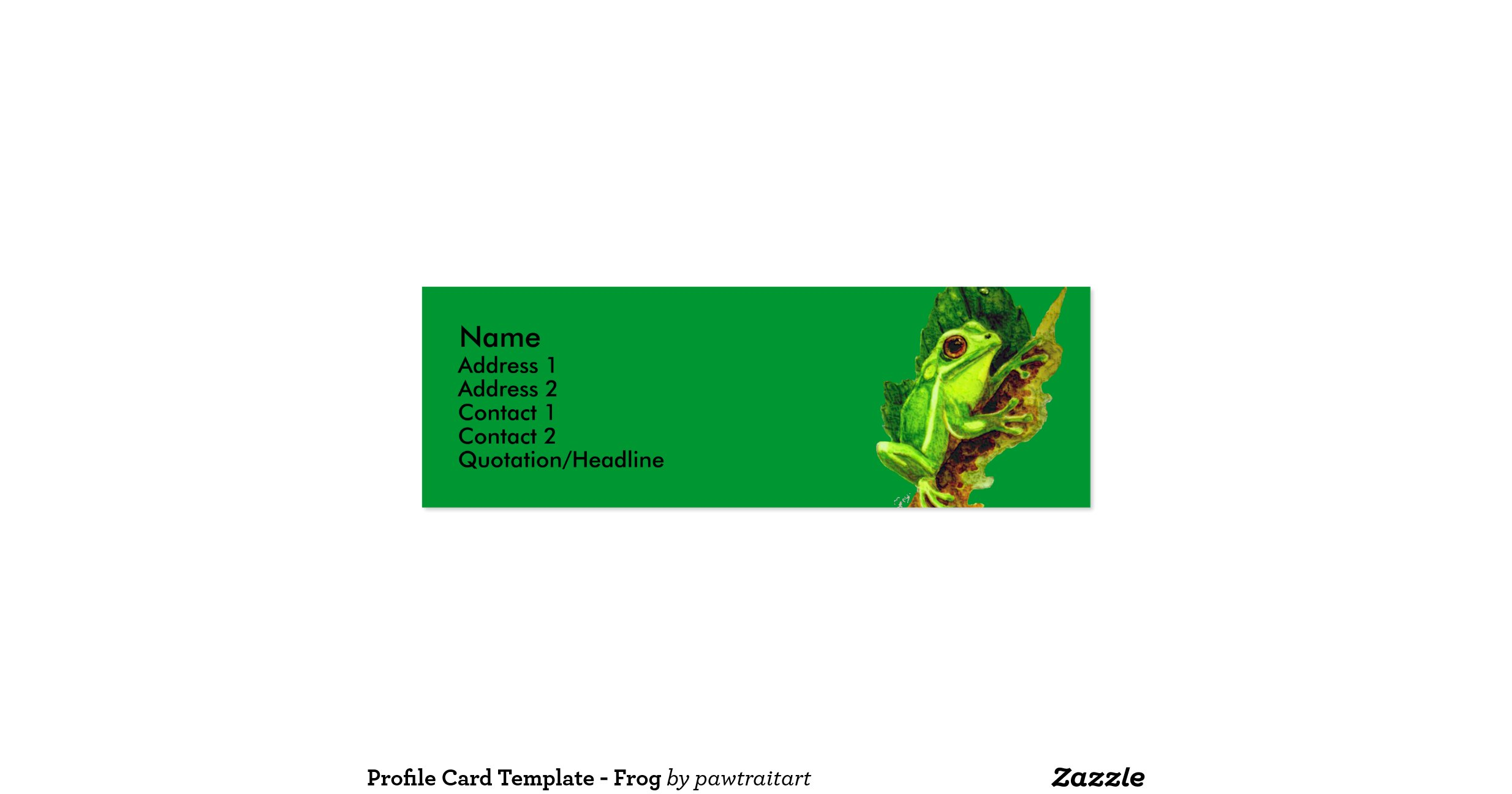 Profile card template frog double sided mini business for Mini business cards template