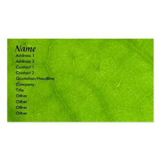 Profile Card Template - Green Leaf Texture Double-Sided Standard Business Cards (Pack Of 100)
