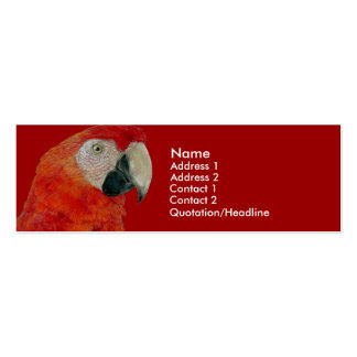 Profile Card Template - Macaw Double-Sided Mini Business Cards (Pack Of 20)