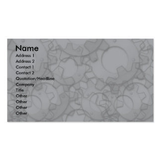 Profile Card Template - Metal Gears