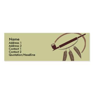 Profile Card Template - Peace Pipe Business Card Templates