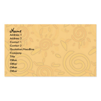 Profile Card Template - Swirled Suns Business Card Templates