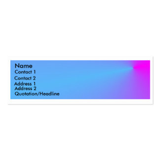 Profile Card -  Turquoise Pink Double-Sided Mini Business Cards (Pack Of 20)