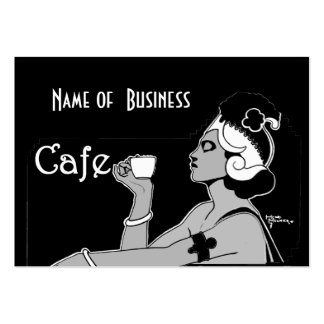 Profile Card Vintage Art Cafe Coffee Shop Business